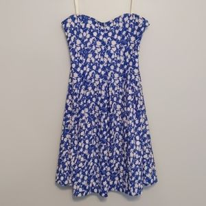 Cooperative Strapless Floral Mini Dress